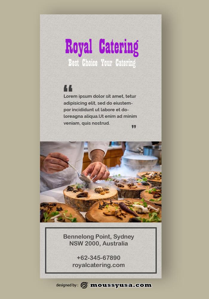 Sample Catering Rack Card Template