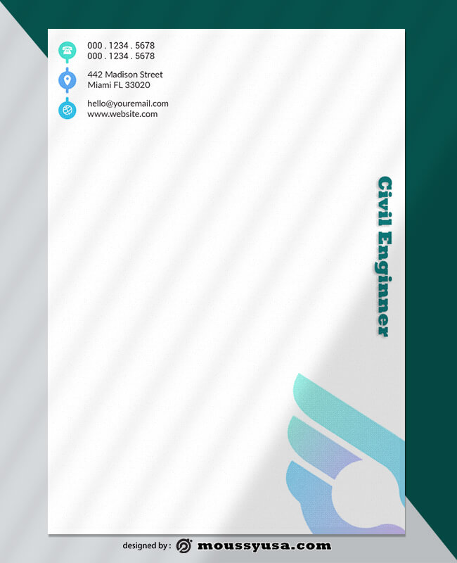 Sample Civil Enginner Letterhead Template