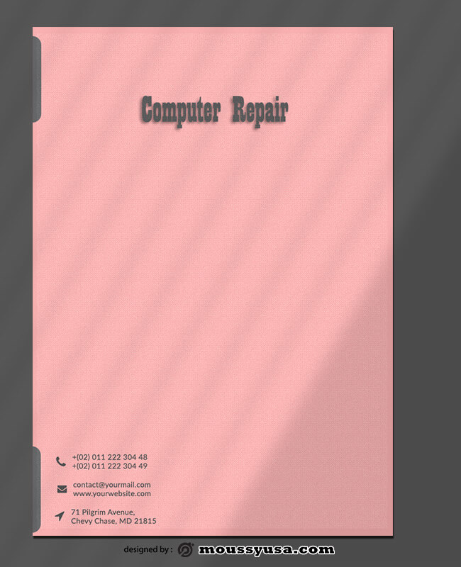 Sample Computer Repair Letterhead Template