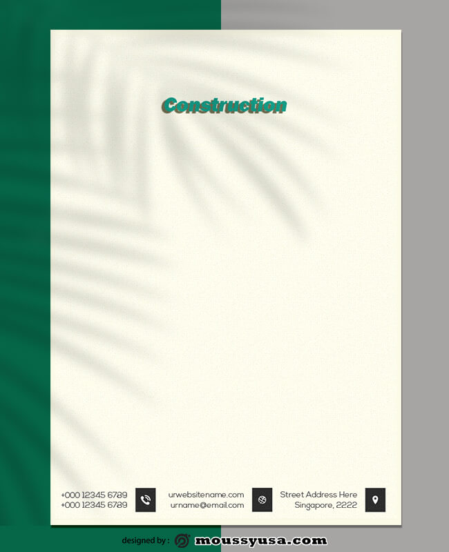 Sample Construction Letterhead Template