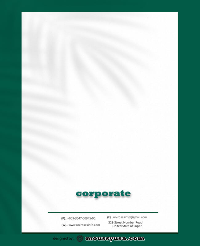 Sample Corporate Letterhead Template