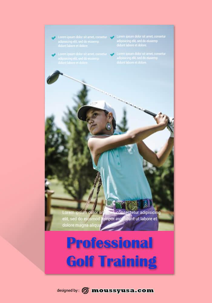 Sample Golf Rack Card Templates