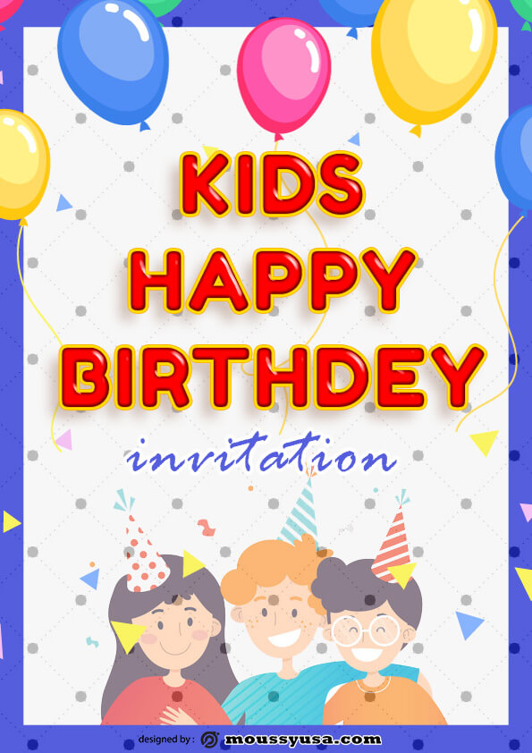 Sample Kids Birthday Invitation Template