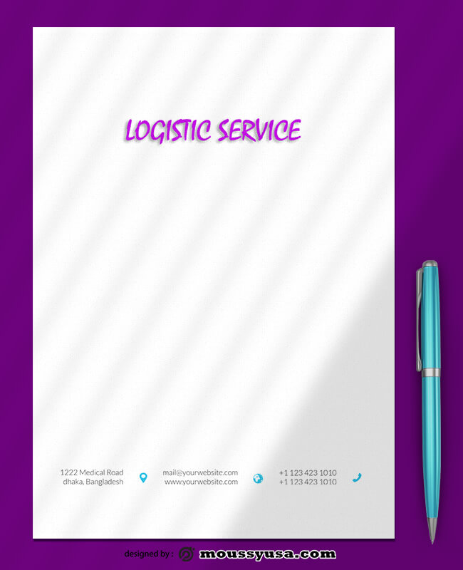 Sample Logistics Service Letterhead Template