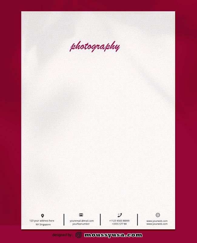 Sample Photography Letterhead Templates