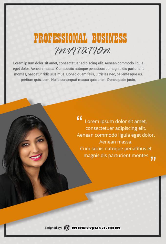 Sample Professional Business Invitation Templates