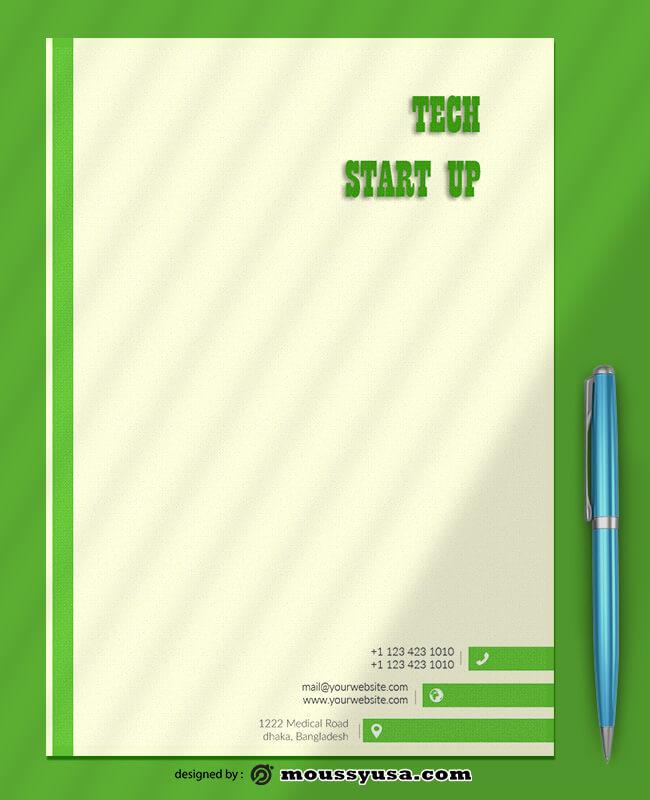 Sample Tech Startup Letterhead Templates