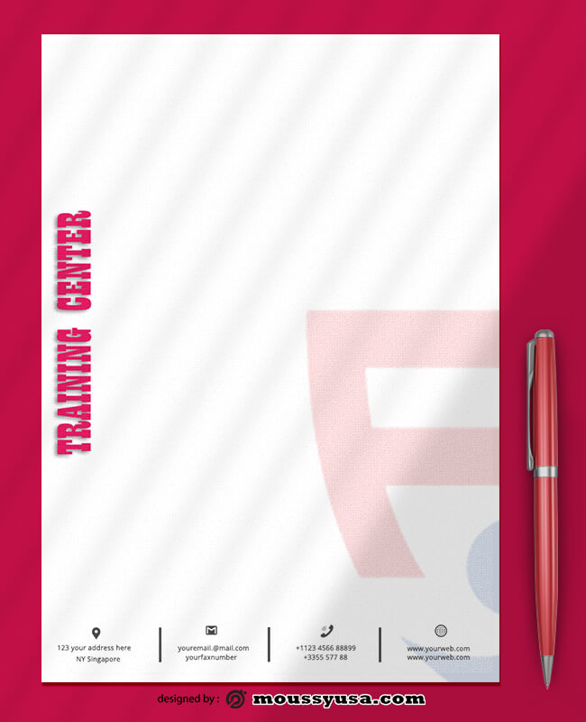 Sample Training Center Letterhead Templates