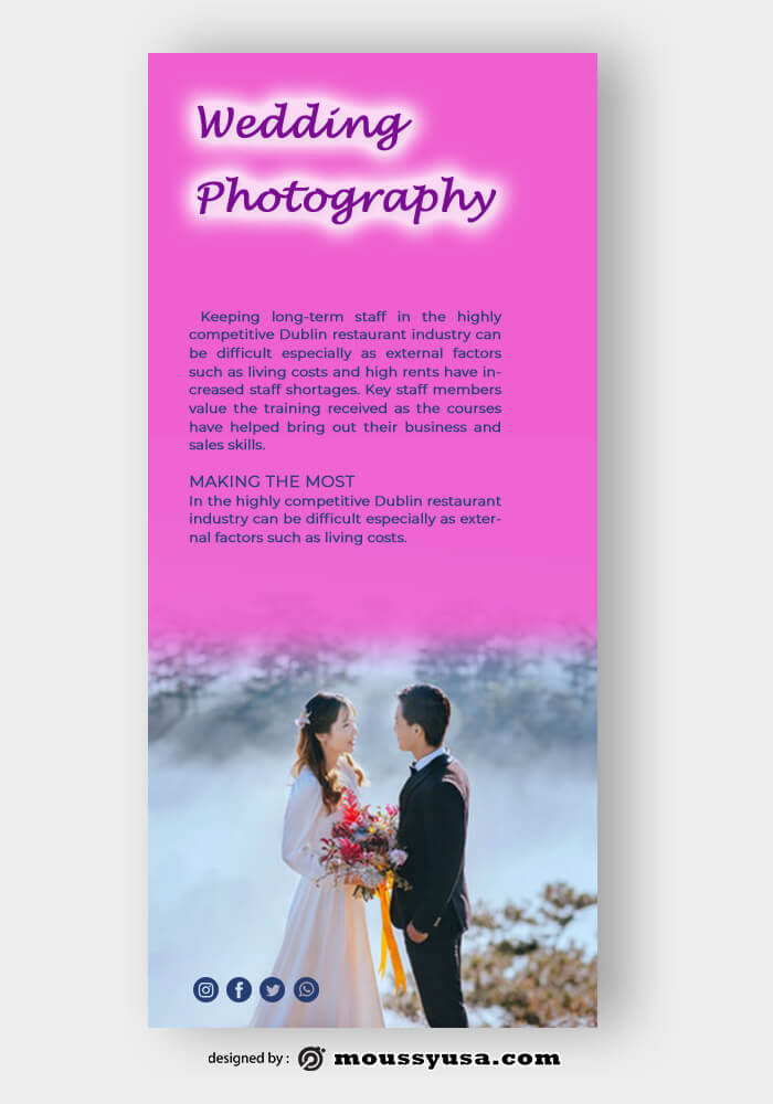Sample Wedding Photography Rack Card Template