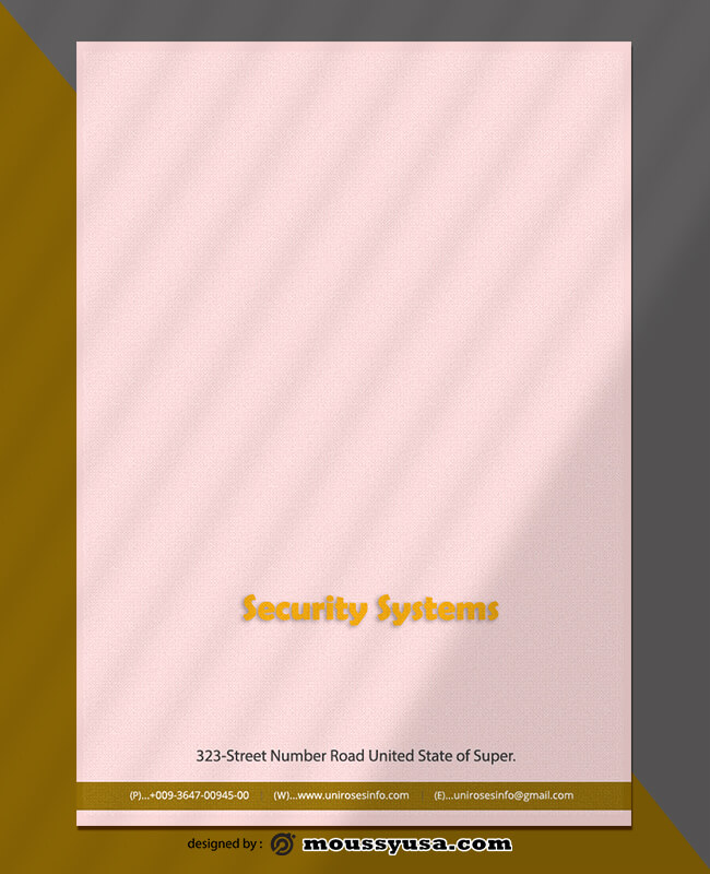 Security Systems Letterhead Template Example