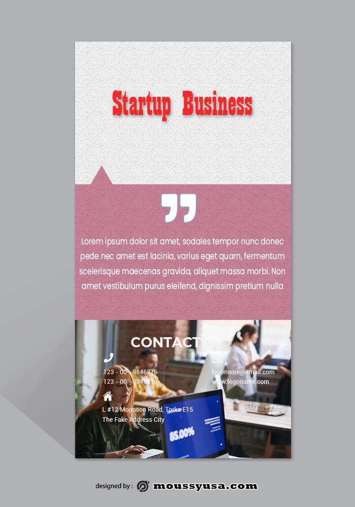 Startup Business Rack Card Template Design