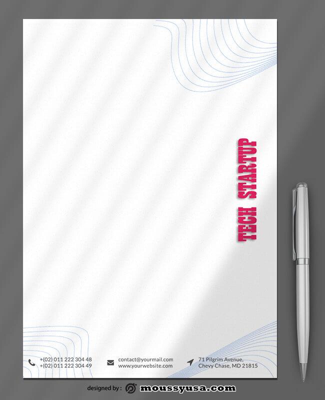 Tech Startup Letterhead Templates Design