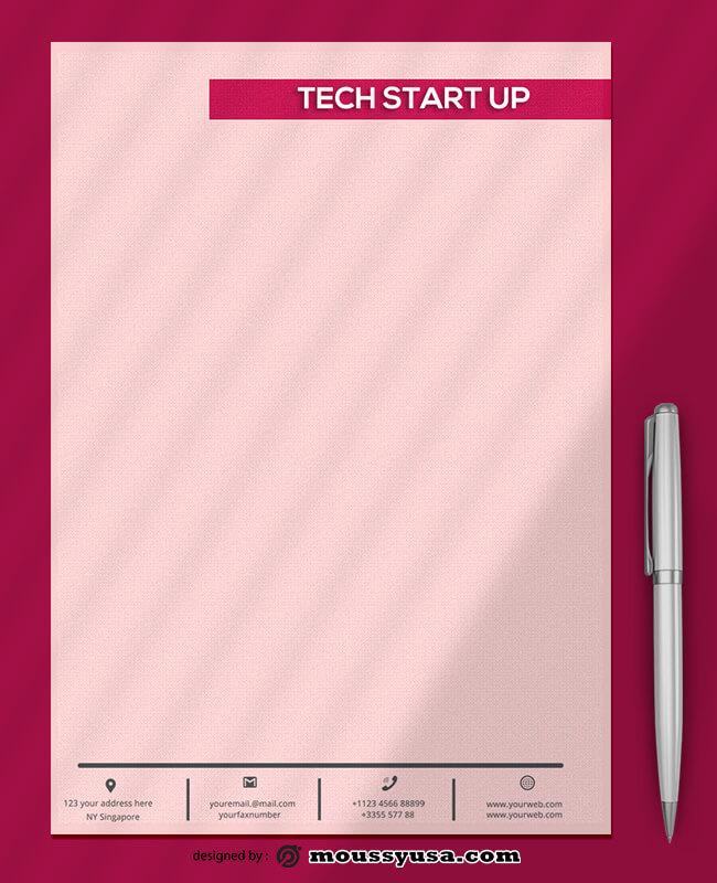Tech Startup Letterhead Templates Ideas