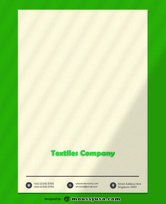 Textiles Company Letterhead Design Ideas