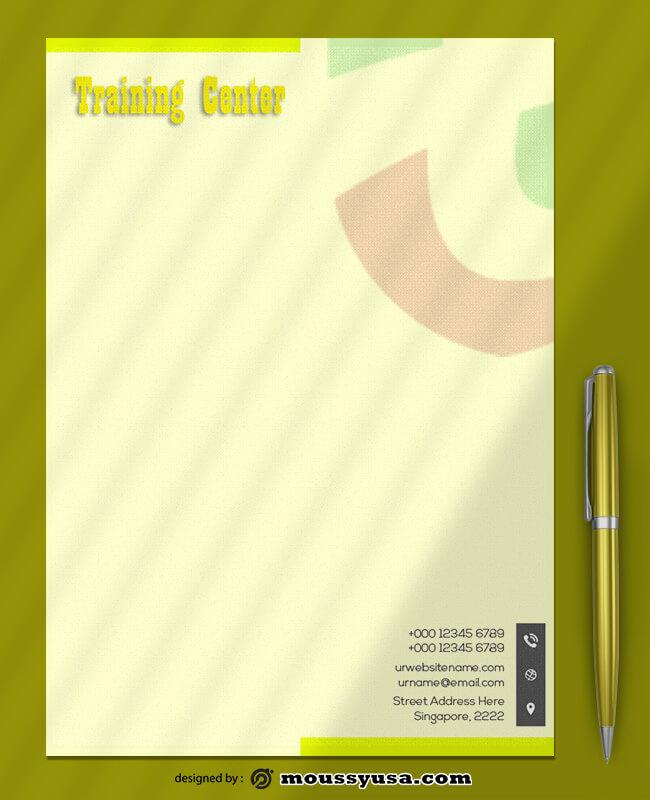 Training Center Letterhead Templates Ideas