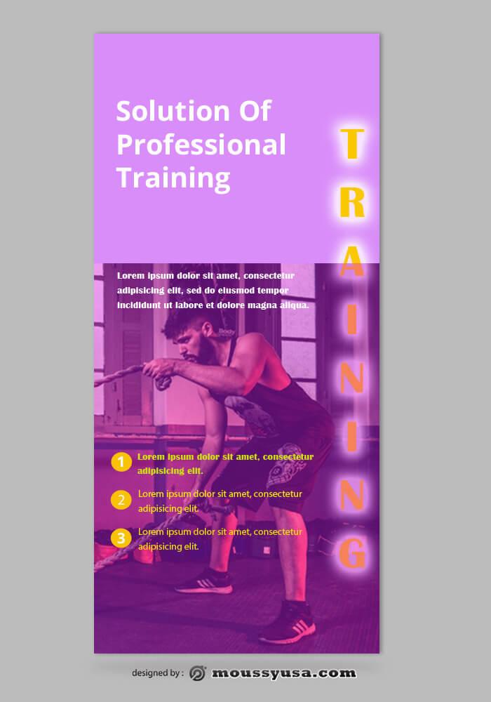 Training Center Rack Card Design Template