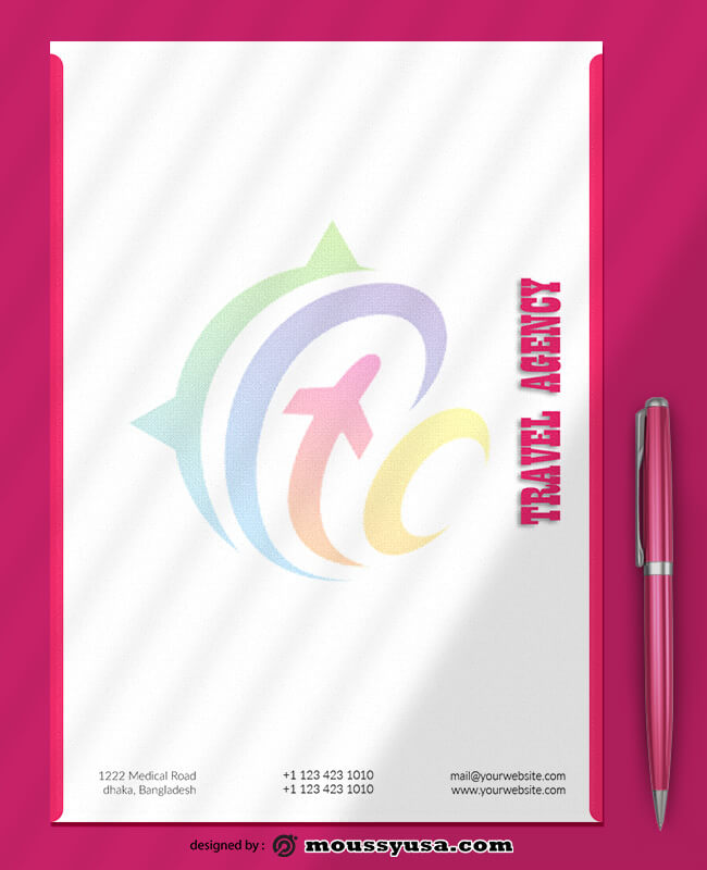 Travel Agency Letterhead Design Ideas