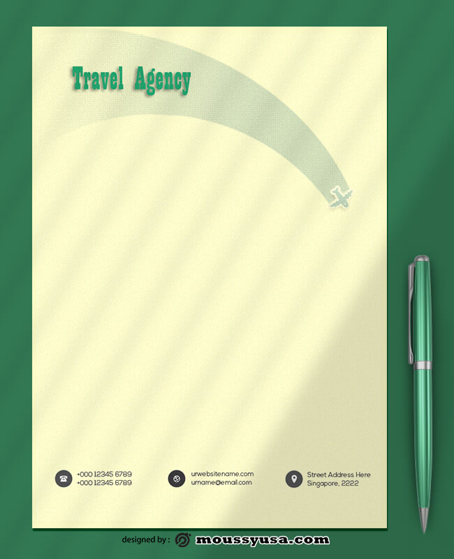 Travel Agency Letterhead Template Sample