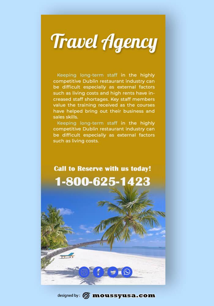 Travel Agency Rack Card Template Design