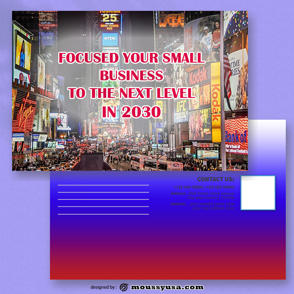 Advertising Postcard Design Ideas