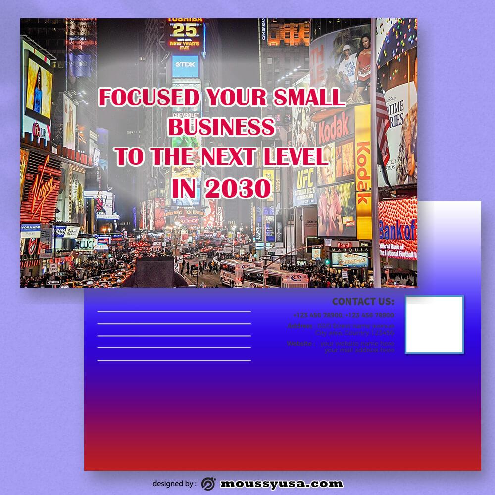 Advertising Postcard Design Ideas
