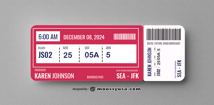 Airline Ticket Design Template