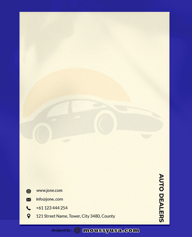 Auto Dealer Letterhead Design Ideas