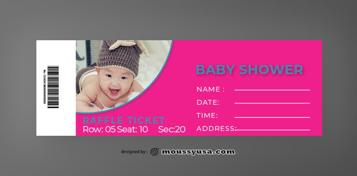 Baby Shower Ticket Template Example