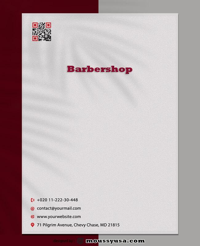 Barbershop Letterhead Template Design