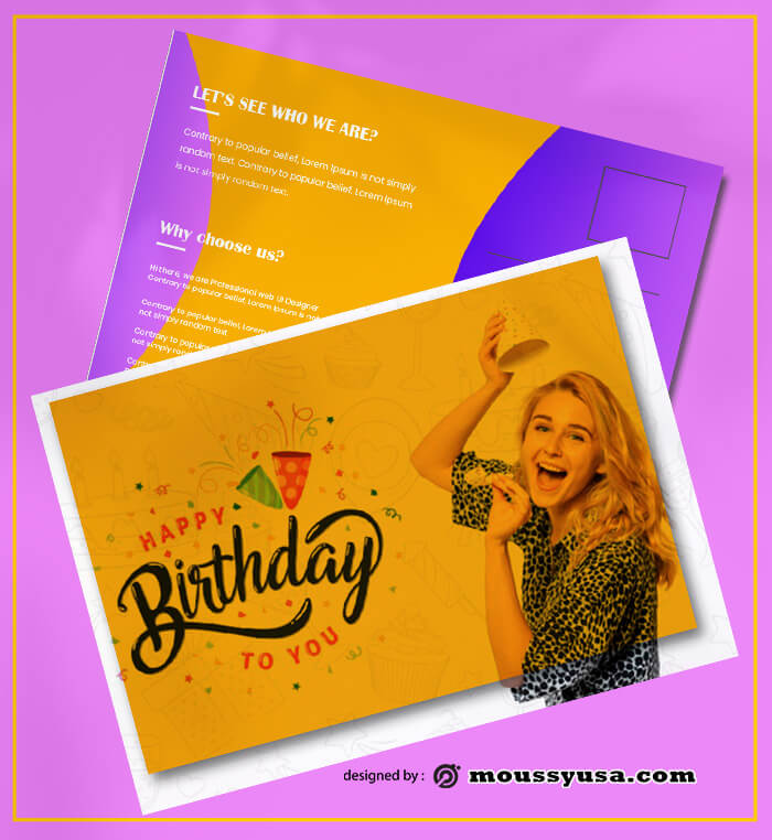 Birthday PostCard Templates Design