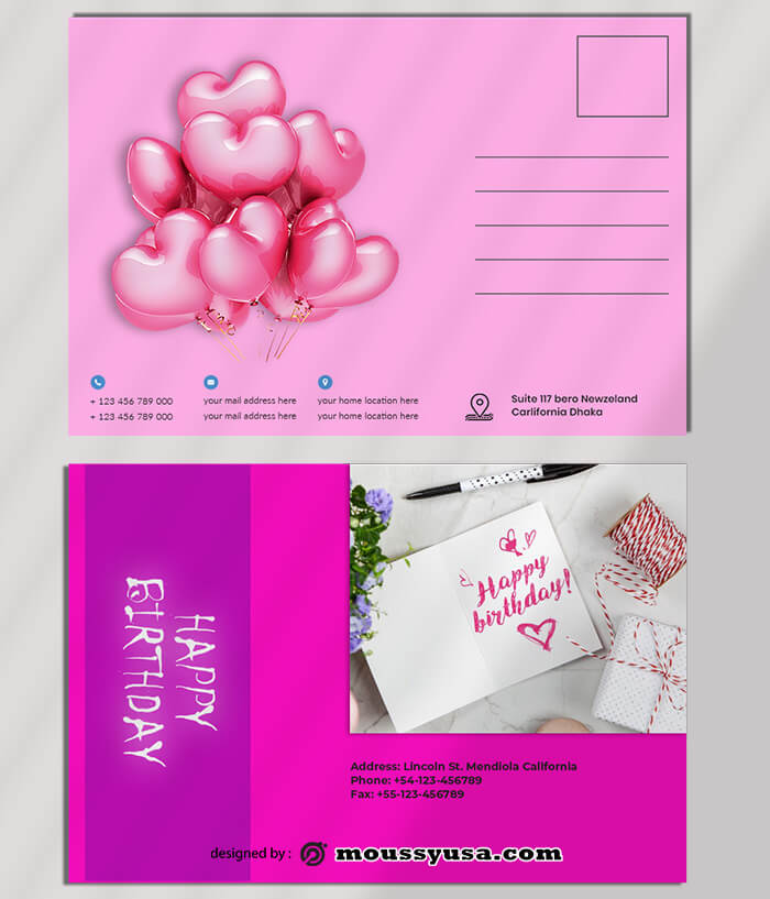 Birthday PostCard Templates Ideas