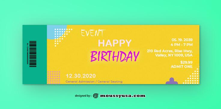 Birthday Ticket Design Ideas