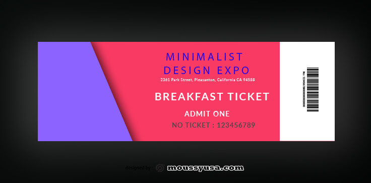 Breakfast Ticket Template Sample