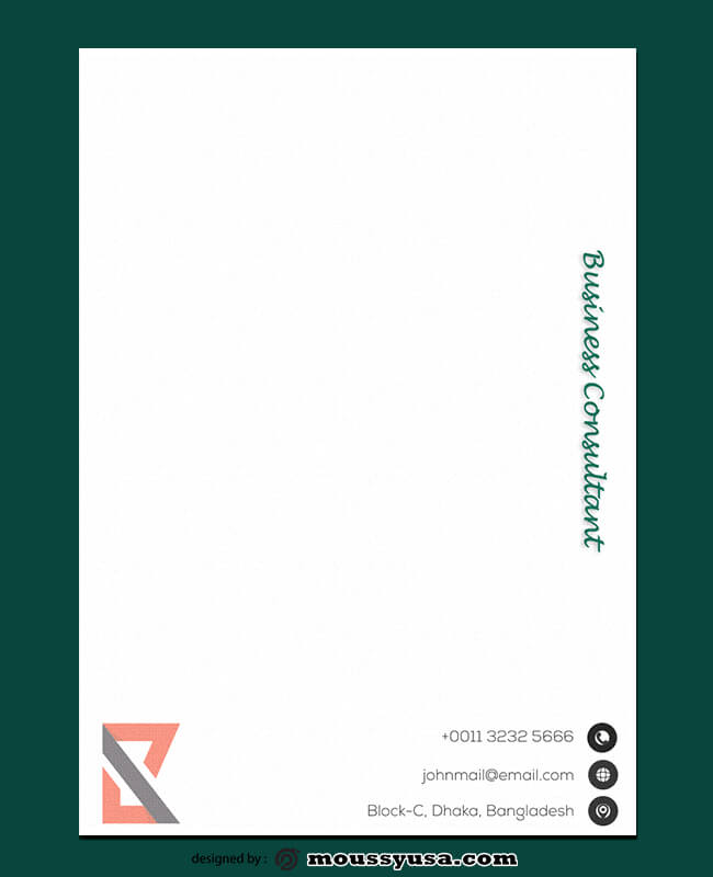 Business Consultant Letterhead Design Ideas