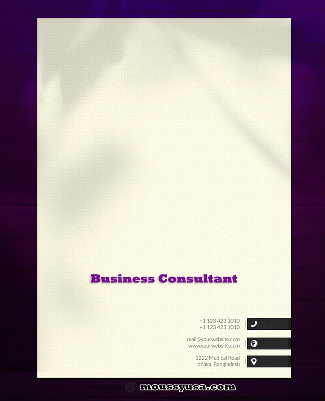 Business Consultant Letterhead Design PSD