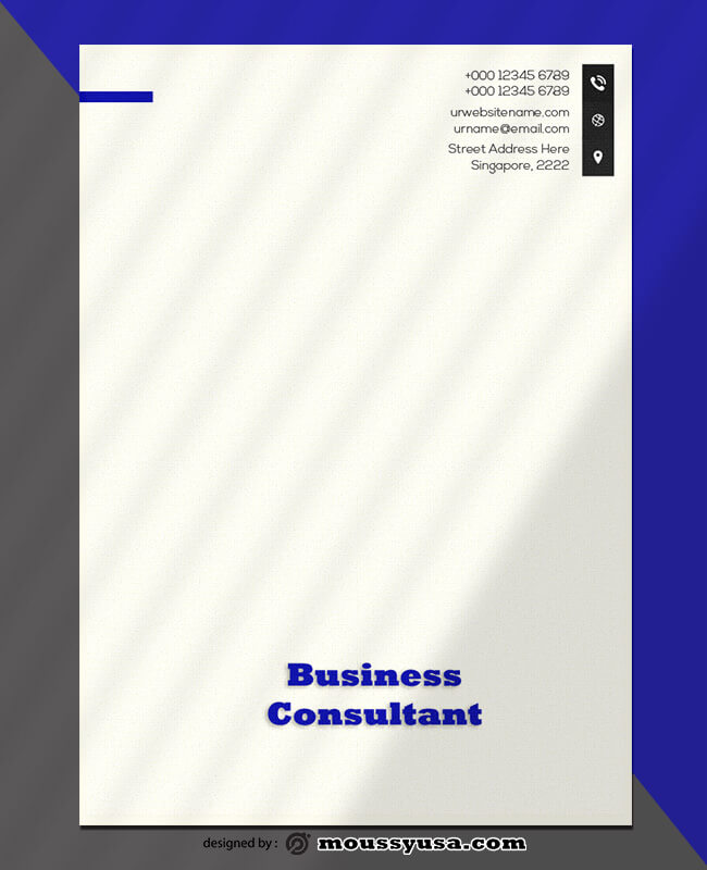 Business Consultant Letterhead Design Template