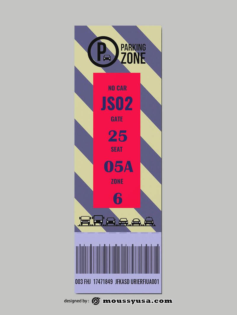 Car Parking Ticket Design PSD