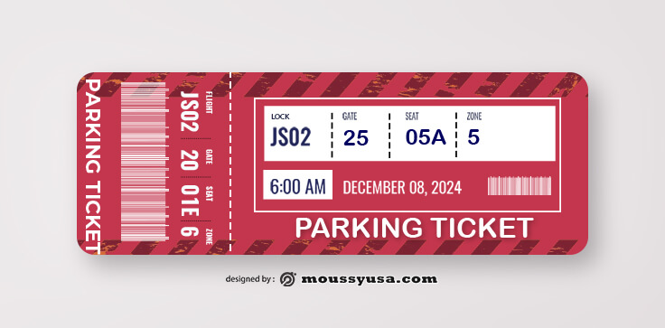 Car Parking Ticket Template Example