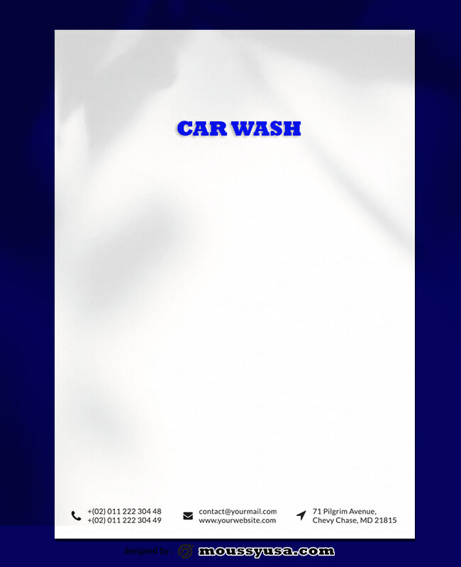 Car Wash Lettterhead Template Ideas