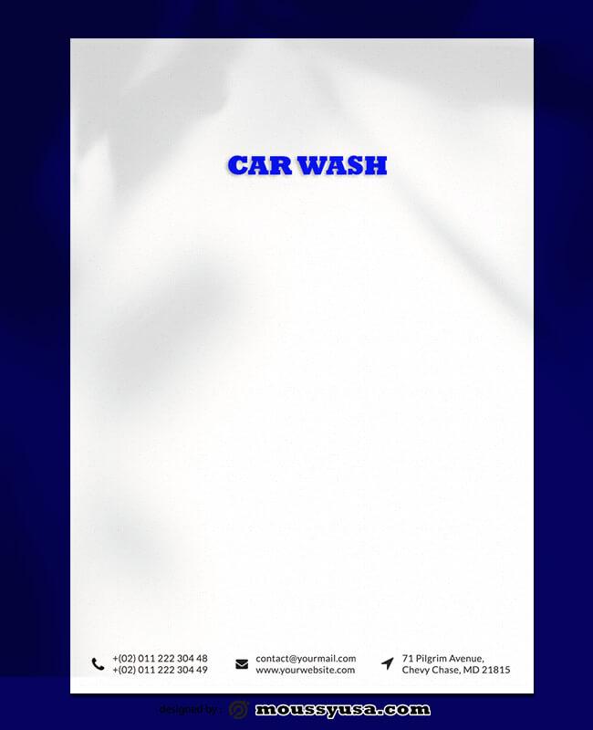 Car Wash Lettterhead Template Ideas