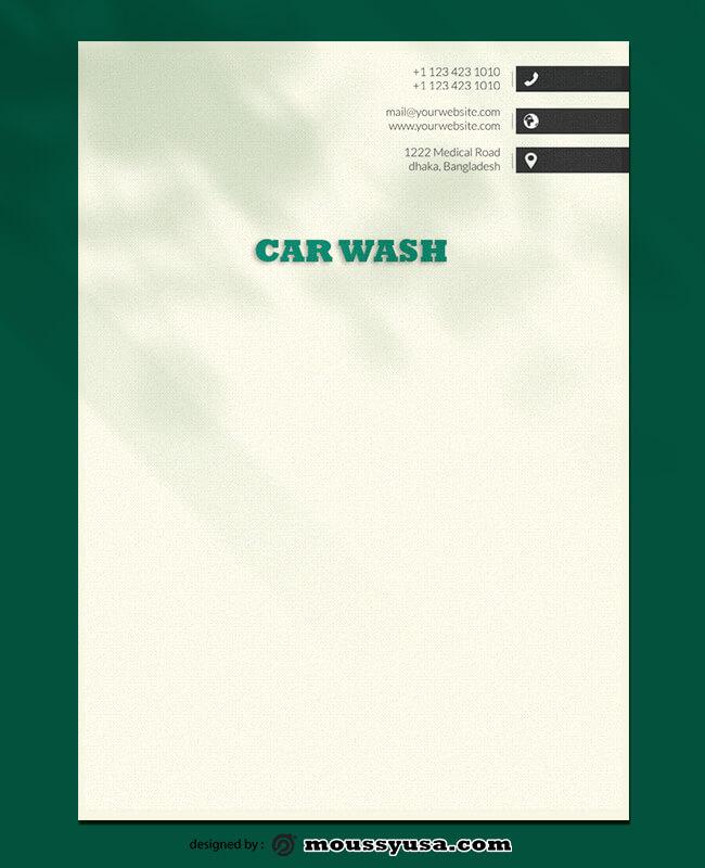 Car Wash Lettterhead Template Sample