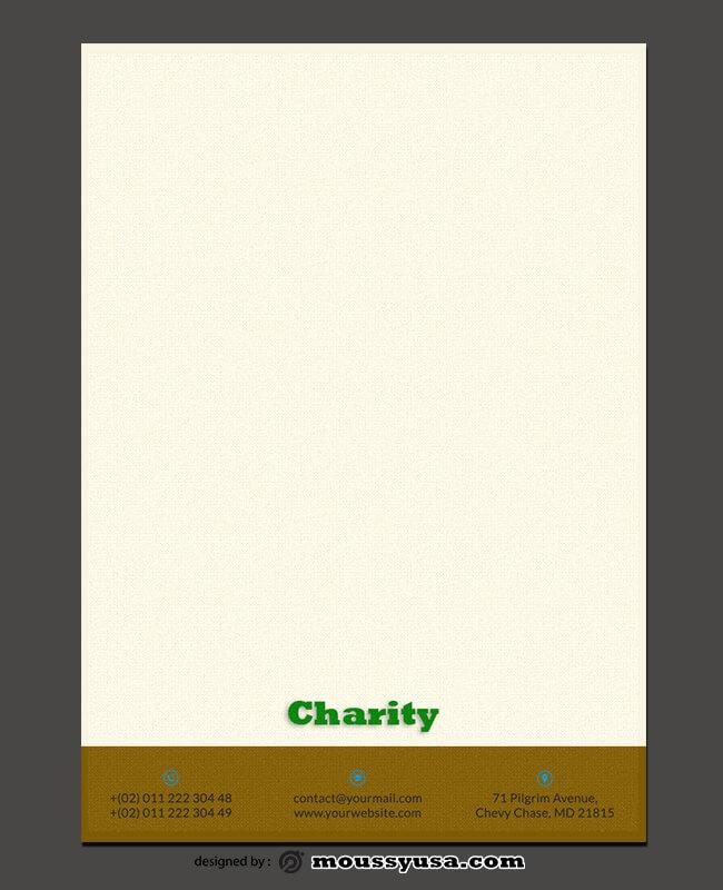 Charity Letterhead Design Ideas