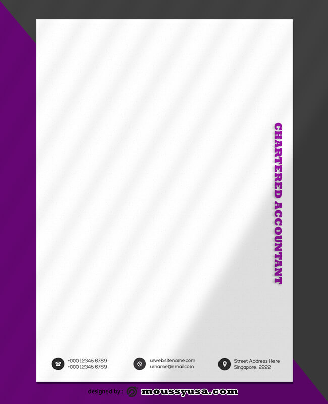 Chartered Accountant Letterhead Template Design