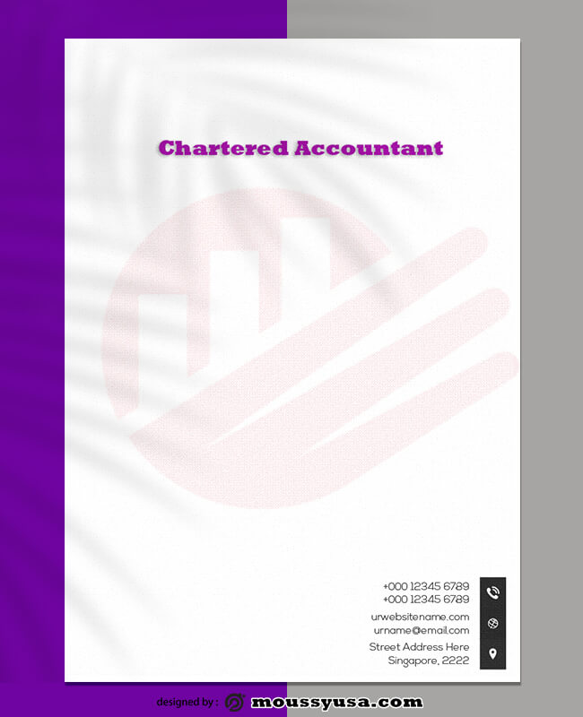 Chartered Accountant Letterhead Template Example