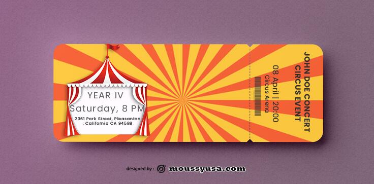 Circus Ticket Template Sample