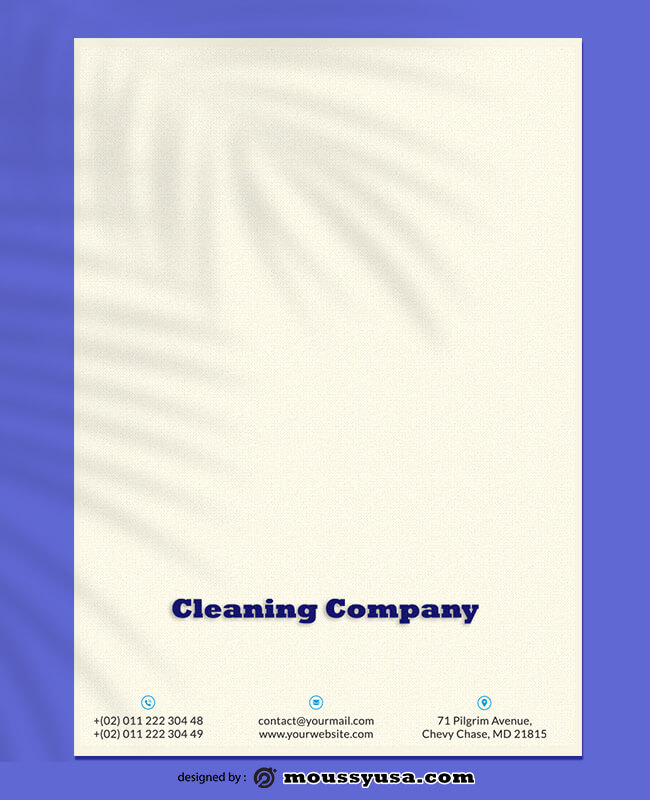 Cleaning Company Letterhead Template Design