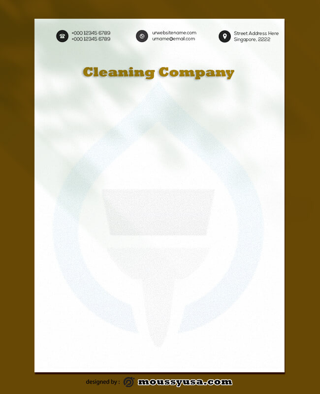 Cleaning Company Letterhead Template Ideas