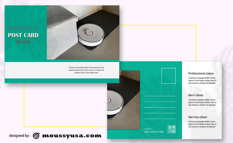 Cleaning Postcard Design Template