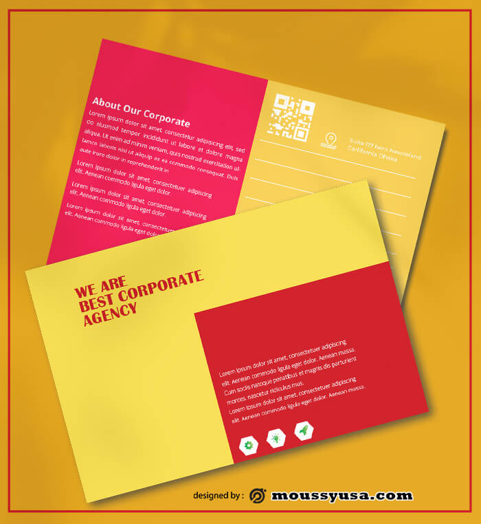 Corporate Postcard Design Ideas