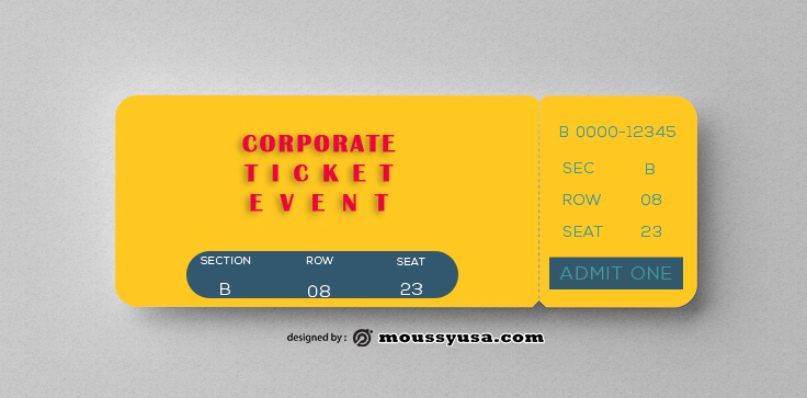 Corpotare Ticket Template Example
